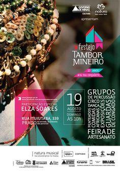 Cartaz para Tambor mineiro  Via: https://www.facebook.com/festejotambormineiro