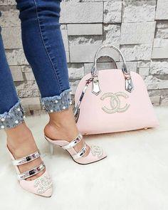 Chanel 2495 - Çanta, Bantlı Topuklu Terlik Kombin