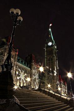 Christmas in Parliament Hill Ottawa, Ontario, Canada
