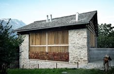 Redevelopment of a Barn in Soglio by Ruinelli Associati Architetti Nice transformation of an old barn which is located in Soglio, a picturesque village with breathtaking views of the Grisons Bregaglia Valley