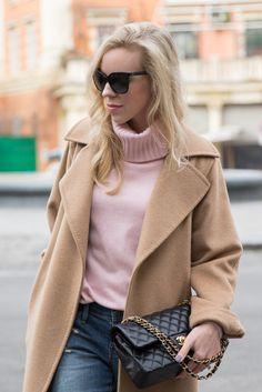 Feminine Details: Camel coat, Pink turtleneck & Leopard pumps Meagan's Moda waysify