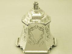 Sterling Silver Tea Caddy - Antique Victorian #Stephen Smith William Nicholson //  - Maria Elena Garcia -  ► www.pinterest.com/megardel/ ◀︎