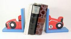 Set of 2 Kinder Race Car Book Ends:Amazon:Home & Kitchen