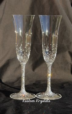 Vera Wang Wedgewood Classic Toasting Flutes by KustomKrystals $259.99