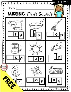 KINDERGARTEN PHONICS - Free worksheets and literacy centers - no prep printables to teach letter sounds and initial sounds - letter sorts - phonics reading centers for kindergarten pre-k and first grade print FREEBIES Beginning Sounds Worksheets, Pre K Worksheets, First Grade Worksheets, Phonics Worksheets, Free Kindergarten Worksheets, Kindergarten Phonics, Prek Literacy, Phonics Reading, Preschool Learning
