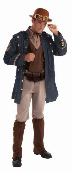 Amazon.com: Steampunk General Adult Costume: Clothing