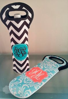 Personalized Wine Bottle Tote- Design your Own Beverage Tote on Etsy, $25.00