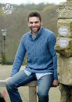 "James Brett Knitting Pattern: Mens Christmas Sweater JB191 38-48/"" DK"
