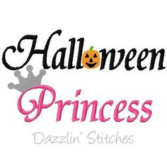 Halloween Princess, Embroidery design