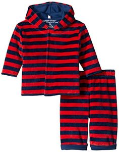 Magnificent Baby BabyBoys Velour Hoody and Pant RedNavy 24 Months * Find out more about the great product at the image link. (This is an affiliate link) #BabyBoyHoodiesandActive