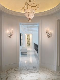 Love the sconces & pendent fixture in lighted recessed dome.