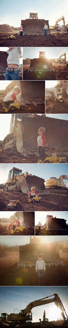 Heather Walker Photography - boys and trucks photo shoot ....... I would love to do this with my little man