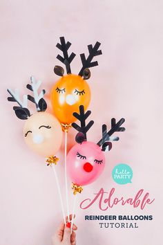 15 Creative Ways To Decorate With Balloons DIY reindeer balloon decoration Christmas Balloons, Christmas Party Themes, Holiday Crafts, Christmas Decorations, Diy Xmas Party, Holiday Ideas, Reindeer Decorations, Merry Christmas Everyone, Christmas Mood