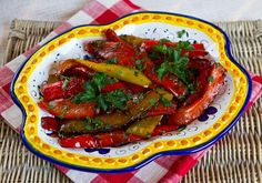 Fried Sweet Peppers With Balsamic Vinegar