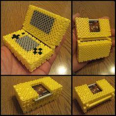 3D Nintendo DS perler beads by kiiro_magura