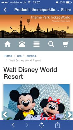 Theme park ticket world