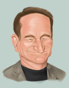 robin williams caricatures | Celebrity Caricature (Robin Williams) by maylok