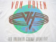 TOTALLY WASTED!! 1991 vintage VAN HALEN F*CK concert T SHIRT tour SAMMY HAGAR XL