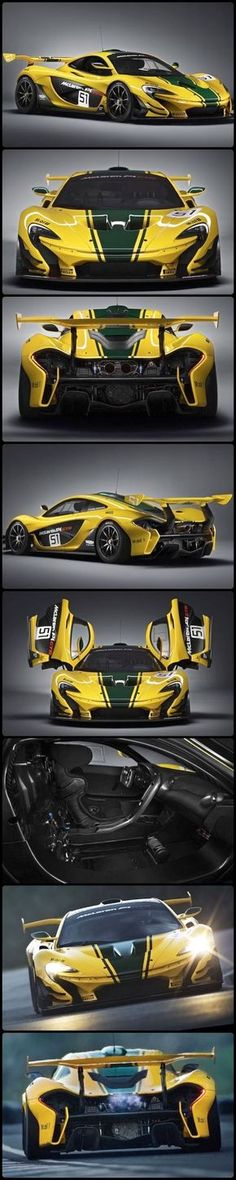McLaren GTR, a Limited Production. Making its debut at the International Geneva Motor Show The track dedicated McLaren GTR will be presented with only minor modifications to the concept presented six months ago. Bugatti, Maserati, Car Photos, Car Pictures, Mclaren P1 Gtr, Supercars, Sweet Cars, Amazing Cars, Car Car