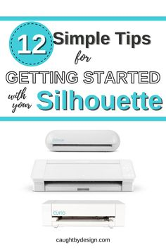 Here's a list of helpful tips that will put you on the path to success with your Silhouette Cameo, Portrait, or Curio. Silhouette Curio, Silhouette Portrait, Silhouette Machine, Roller Bar, Cricut Htv, Swing Design, New Things To Learn, Vinyl Projects, Heat Transfer Vinyl