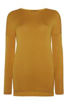 8€ Primark - Jersey de cuello redondo con costura color mostaza
