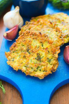 Placuszki z cukinii Aga, Quiche, Cauliflower, Pancakes, Vegetarian, Dishes, Vegetables, Breakfast, Food