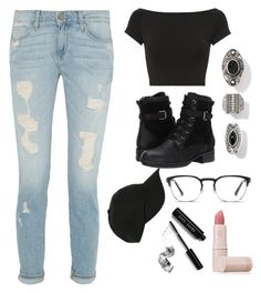 untitled #2 by stereocristiana on Polyvore featuring polyvore moda style Helmut Lang Blondo Hot Topic Calvin Klein Bobbi Brown Cosmetics Lipstick Queen fashion clothing