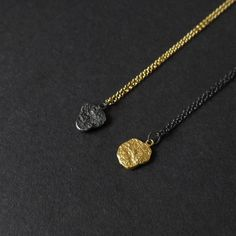 18 Gold Vermeil Chain Necklace 24k Gold Plated by RawObjekt