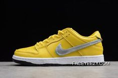 Women Men Best Diamond Supply Co X Nike SB Dunk Low Pro OG QS Yellow  BV1310-002 1a1406518db