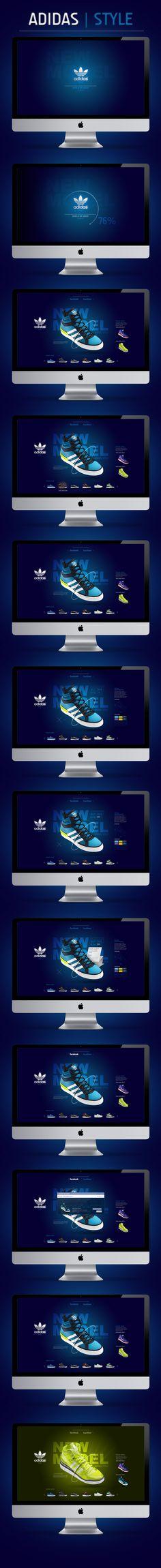 ADIDAS / LAB by João Alberto, via Behance - #web #design