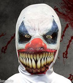 Demon #clown 3d effect face skin lycra fabric face mask grim #reaper #halloween,  View more on the LINK: 	http://www.zeppy.io/product/gb/2/201146293201/