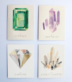Illustrated Gems Boxed Set | Rocket-Ink - I am interested in the watercolor look