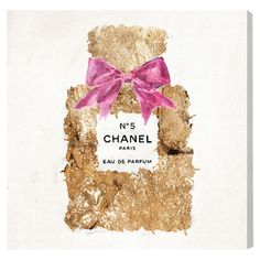 A chic addition to your master suite or living room, this canvas print features an artful interpretation of the iconic Chanel No. 5 perfume bottle. Made in t...