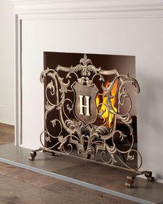 Hogwarts fireplace screen