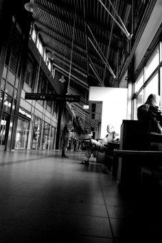 Railway station in Odense, Denmark