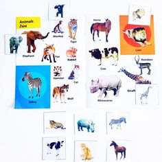 Let's find, name and match the animals. Oops who's gonna find it first?  #vocabulary #learning #englishvocabulary #matchthepicture #preschool #school #activities #activitiesforkids #letslearnandplay #logocare_ #kids #englishlearning #animals