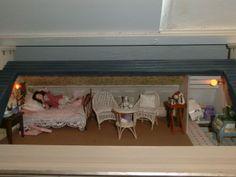 slaapkamer in het klein frans huisje. #poppenhuizen en #miniaturen | Marianne25.jouwweb.nl