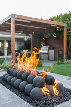 Garden Studio creates landscape by design by utilizing outdoor spaces. Design inspiration throughout our website. Swimming Pools Backyard, Fire Pit Backyard, Backyard Patio Designs, Backyard Landscaping, Outdoor Fire, Outdoor Living, Outdoor Decor, Modern Fire Pit, Fire Pit Designs