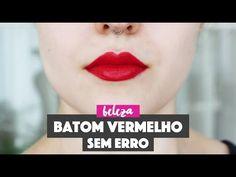 Dicas de como passar batom vermelho perfeito!  How to perfectly apply red lipstick!