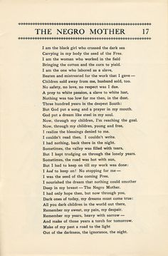 """archivesofamericanart: """" We're kicking off Black History Month with one of our treasures. In 1931 poet Langston Hughes published this booklet 'The Negro Mother and Other Dramatic Recitations. African American Poems, African Poems, American Poetry, American Art, African Quotes, Black History Month Poems, Black History Quotes, Black History Facts, Black Girl Quotes"""
