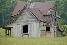 Old farm house collapsing.