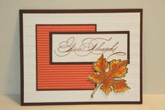 My Creative Corner!: Gently Falling Thanksgiving Card