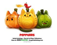 Daily 1361. Peppurrs by Cryptid-Creations.deviantart.com on @DeviantArt