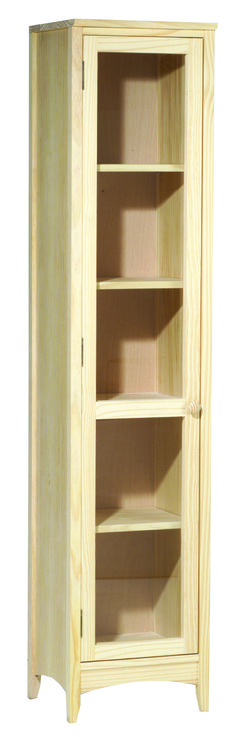 """AMISH Unfinished Pine ~ CUSTOM SIZED BOOKCASE ~ Adjustable 18/"""" wide 30/"""" tall"""