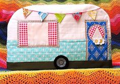Sew Cute Tuesday - Blossom Heart Quilts. Sewing machine cover. Vintage camper.