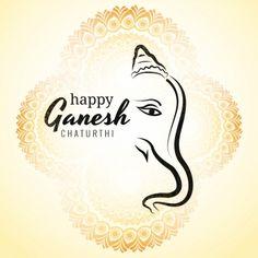 Happy Ganesh Chaturthi Greeting Card Showing Background Vector and PNG Ganesh Chaturthi Greetings, Happy Ganesh Chaturthi Images, Ganpati Invitation Card, Diwali Vector, Paint Splash Background, Ganesh Photo, Ganesh Utsav, Lord Ganesha Paintings, Ganesh Wallpaper