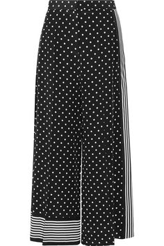 Stella McCartney's pants are printed with playful polka-dots and stripes - they feel so fresh and modern. Cut from languid silk crepe de chine, this pair has side pockets and a cropped leg. Try yours with sneakers.