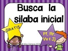 FREE Fichas para el repaso de las letras F, R, V, J.Silabas iniciales (primer sonido) con las silabas de fa, fe, fi, fo, fu, ra, re, ri, ro. ru. va, ve, vi, vo, vu, ja, je, ji, jo, juREVIEW OF SPANISH ALPHABET LETTERS. First syllable sound practice for F, R, V, J.Other Directly Related Resources (Mas Recursos En Espanol)Spanish Consonants - La Letra F fSpanish Consonants - La Letra R rSpanish Consonants - La Letra VvSpanish Consonants - La Letra JjTrazando Silabas DirectasTrazando Silabas…