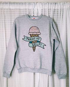 Treat Yo Self Parks and Recreation sweatshirt by somewhataud | parks and rec | treat yourself | shirt