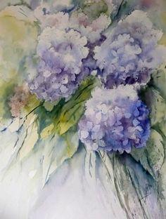Fleurs de mon jardin - Couleurs de Bretagne - Vos fleurs en peinture
